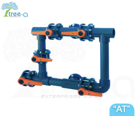 Baterías de válvulas manuales, eléctricas y neumáticas de la linea Aqua Treatment de Tree-a Enterprises SAS