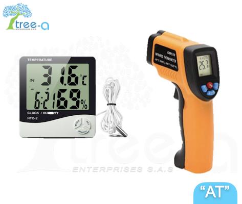 Termómetros y medidores de humedad de la linea Aqua Treatment de Tree-a Enterprises SAS